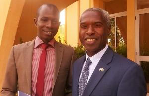 Avec l'Ambassadeur des Etats Unis au Burkina Faso