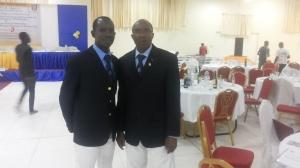 Azize Bamogo avec le PZ Abou à la soirée de remise de charte