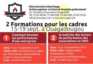 formation gestion de la performance à Ouagadougou Contact 50407600