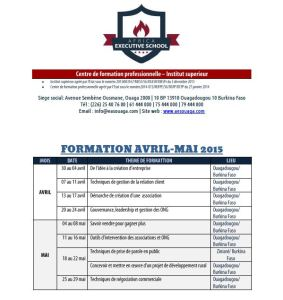 AES programme des formations avril mai 2015